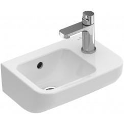 Villeroy & Boch Architectura fontein 36x26cm 1 kraangat rechts met overloop wit Wit 43733601