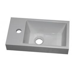 Novio Finn fontein 40x22cm1xkr.gt li./re. toepasbaar mat wit Mat Wit