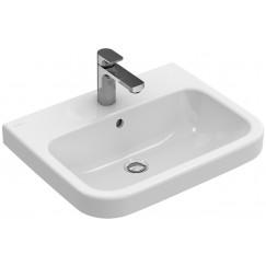 Villeroy & Boch Architectura wastafel 60x47 cm. 1x kr.gat m/overloop wit Wit 41886001