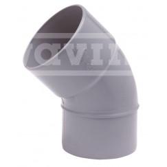 Wavin Wadal pvc lijm-bocht lijmmof/spie 40mm 45 graden grijs Grijs 3101104004