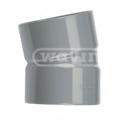 Wavin Wadal bocht mof/mof 110 mm. 15 gr. Pvc 3101211001