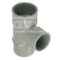 Wavin Wadal pvc lijm-t-stuk 40mm 88 graden grijs mof/spie Grijs 3102104009