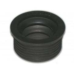 De Beer  rubber manchet / metaal 50x30mm zwart Zwart 112350001
