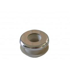 De Beer Mulet urinoirverbinder 20mm.type 81r met roset chroom Chroom 112811001