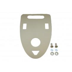 De Beer  isolatieplaat voor urinoir wit Wit 125160001