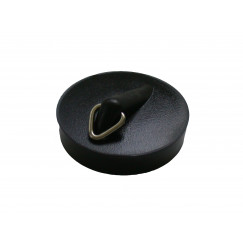De Beer  plugstop rubber diameter 40,5mm. Zwart 130550001