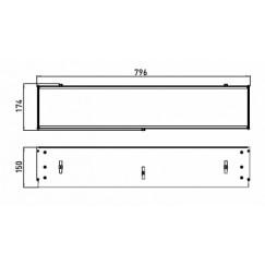 Emco Asis montageraam v/planchetmodule 79,6x17,4x15 cm. alum Aluminium 971200081