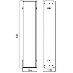 Emco Asis montageraam 80,5 x 17,4 x 15 cm. aluminium Aluminium 975000051