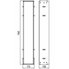 Emco Asis montageraam 98 x 17,4 x 15 cm. aluminium Aluminium 976000061