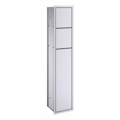 Emco Asis inbouw toiletmodule 80.9 cm. links aluminium Aluminium 978305050
