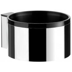 Emco System 2 houder voor fohn. chroom-zwart Chroom Zwart 355900100