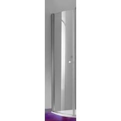Huppe 501 Design kwartrond helft 80 x 190 cm. matzilver-helder glas Mat Zilver 510650087321
