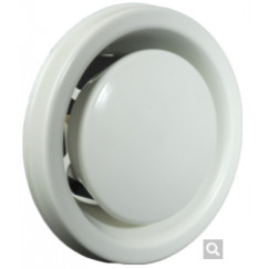 Itho  metalen ventiel 100 mm. ral 9010