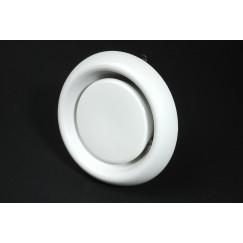 Itho  kunststof ventiel 80 mm. ral 9010