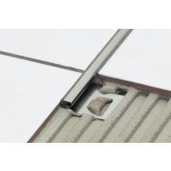 Schluter Deco-ae tegelprofiel 8 mm. 250 cm. mat geanodiseerd alum. Aluminium Mat AE80D
