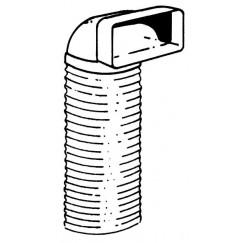 Upmann  verloopstuk met bocht en slang 100cm. fr119