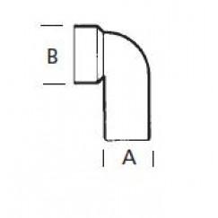 Upmann  urinoir sifon-aansluitbocht z/manchet 50 mm.  82254
