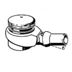 Viega Tempoplex afvoerplug voor douchebak 90 mm. 0.85l/s. chroom Chroom 578916