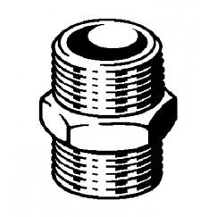"""Viega  dubbele nippel met zeskant 1/2"""" brons Brons 266592"""