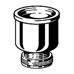 "Viega  urinoirkelk met koppeling 1 1/4"" x 50 chroom Chroom 108878"