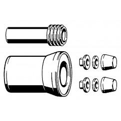 Viega  af+aanvoer 100x180 mm. garnituur voor wandcloset