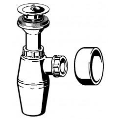 Viega Project pvc plugbekersifon zonder muurbuis met roset wit Wit 102531