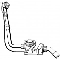 Viega Rotaplex basisgarnituur badafvoer 90 mm. voor standaard bad Chroom 488659