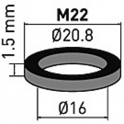 Neoperl  rubber pakking m22x1 a 10 stuks  78136096