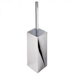 Geesa Modern Art closetborstelhouder met zwarte borstel chroom Chroom 913510-06