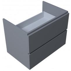 Novio Touch Me 2.0 wastafelonderkast 70 cm. 2 laden grijs gelakt Grijs Gelakt