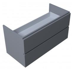 Novio Touch Me 2.0 wastafelonderkast 100 cm. 2 laden grijs gelakt Grijs Gelakt