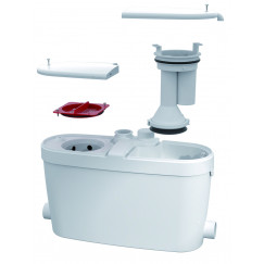 Sanibroyeur Saniaccess vuilwaterdompelpomp font-wast-bad-douche-bidet wit Wit SANIACCESS4