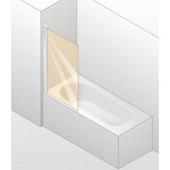 Huppe Design Elegance badklapwand 1-delig 75x150cm helder mat zilver Mat Zilver 8E1901087321