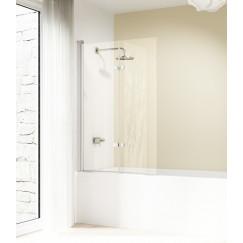 Huppe Design Elegance badklapwand 2-dlg 120x150cm re. helder mat zilver Mat Zilver 8E2402087321