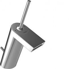 Hansa Stela wastafelkraan m/waste vaste uitloop 111mm. chroom Chroom 57092201