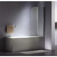 Novio Free Bath Base badklapwand 75x140 cm. chroom-helder clean Chroom