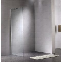 Novio Free Towel zijwand vast 100 x 200 cm. chroom-helder clean Chroom