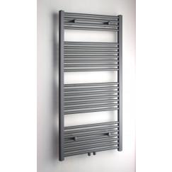 Novio Apollo R radiator 40x140cm.n30 520w recht middenaansl.grijs Grijs Metallic