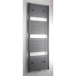 Novio Apollo R radiator 60x180 n41 990w mi.aansl.grijs metallic Grijs Metallic