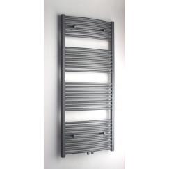 Novio Apollo G radiator 50x140 n30 634w geb.mi.aansl.grijs metall Grijs Metallic