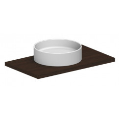 Novio Legato opzetwastafel rond 45 cm. zonder kraangat wit Wit