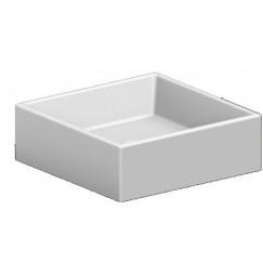 Novio Legato opzetwastafel vierkant 39x39cm zonder kraangat wit Wit