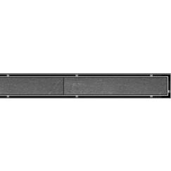 Aco Showerdrain C tile rooster voor douchegoot 88,5x7 cm. rvs Rvs 408601