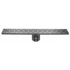 Easydrain Fixt 50 afvoergoot 9,8 x 70 cm. m/zijuitl. rvs Rvs EDFT70050