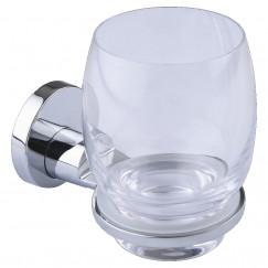 Novio P-line glashouder met glas chroom Chroom