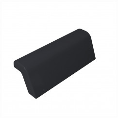 Novio Siena badkussen 31,5x10 cm. zwart Zwart