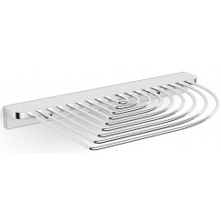 Novio Umea design draadzeephouder hoekmodel chroom Chroom