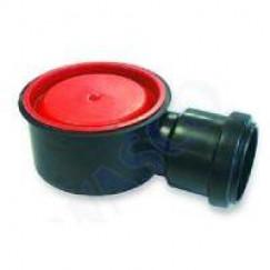 Aco Flexdrain puthuis laag zij uitlaat met steekmof 55 mm. zwart Zwart 405763