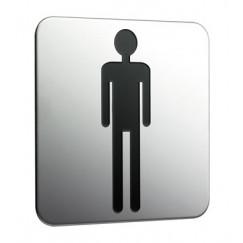 Emco System 2 deurplaat heren chroom Chroom 357600001