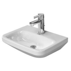 Duravit Durastyle fontein 45x33.5 cm. m/kraangat zonder overloop wit Wit 0708450000